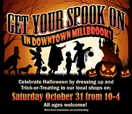 Post for Halloween Event in Millbrook